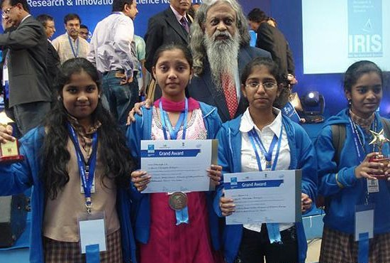 Amrita Vidyalayam Davangere won the International Science Fair award