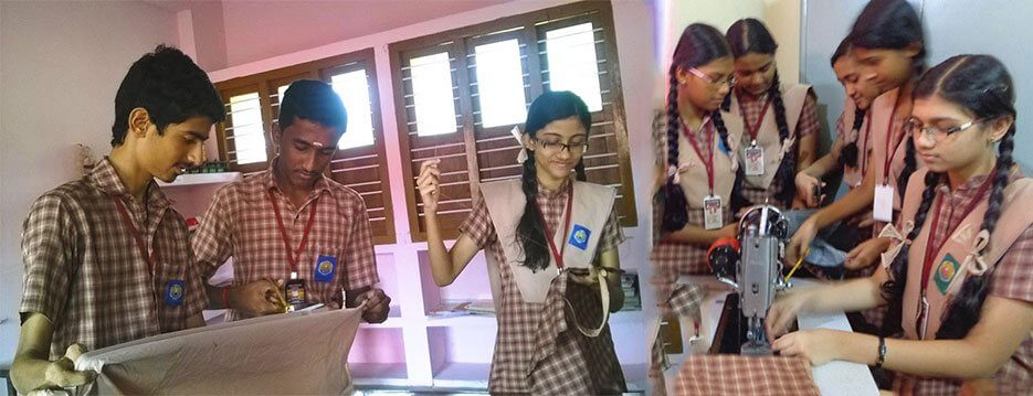 Amritam Project - Making cloth bags