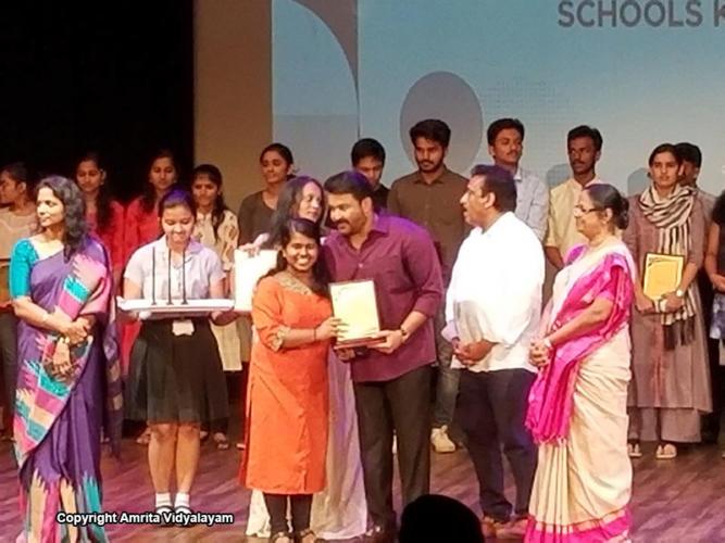 Amritavarshini E R, Science Topper with 97%, Amrita Vidyalayam Kodungallur.